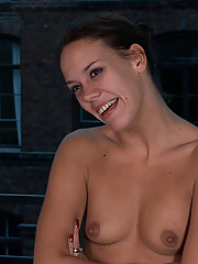 European hottie is fully nude, barefoot, and bound in the streets where everyone can see. Real public sex unlike anything you