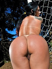 Sexy hot brazilian babe gets fucked in her hot ass on the soccer field super hot pics