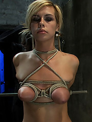 Tara Lynn Foxx suffers a category 5 suspension, made to suck cock, and cum over and over. All tying on screen!  Amazing live rope bondage!