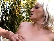 Chesty grammas kissing and fondling