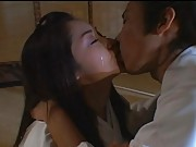 Unknown Model sexy geisha kissing her samurai husband