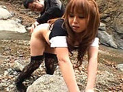 Ichika titties bounce as he slams his cock into her pussy