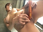 Natsumi Mitsu naked and rubbing her clitoris for the camera