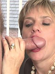 Busty british mature enjoys a cock