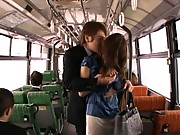 Nana Kunishi curvy ass exposed and grabbed on the bus