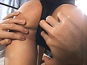 Misaki Ueno sexy ass gets played with as he tugs her panties