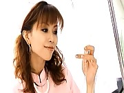 Akane Hotaru cute Asian nurse in stockings and uniform
