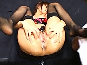 Juri Matsuzaka spreads herself to show all the cum in her pussy