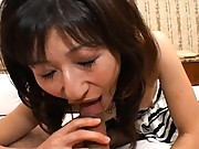 Ryoko riding and sucking his cock before the anal sex begins