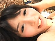 Yuka Osawa gets fucked doggy style in this outdoor sex video
