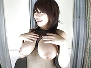 Miu Satsuki big beautiful tits hanging out of her body stocking