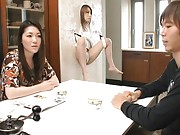 Japanese AV Model is strapped to the wall with her pussy exposed