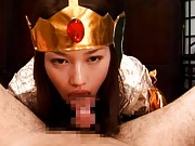 Unknown Model hot Asian girl in her sexy cosplay outfit