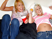Check out these hot college teenies lez out then get fucked hard in these hot dorm room foosball fucking orgy vids