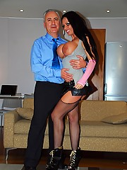 Horny street slut loves shagging older guys