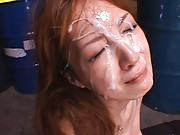 Kaede Fuyutsuki is a mess after they cum on her face in this vid