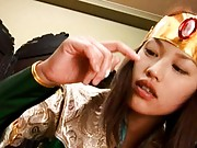 Unknown Model sucking boyfriends cock in this cosplay video