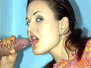 Fucked in the toilet by a gloryhole pecker
