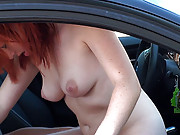 Some stupid coed gives head in the car
