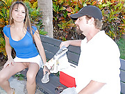 Hot asian mini skirt milf gets picked up at the park wearing no panties then fucked hard in this reality fuck movie set