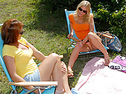 Smoking hot long leg mini skirt lesbians fuck eachother in the park in this hot lesbian fucking outdoor movie set