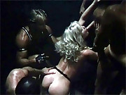 Screwed by four horny men with stiff peckers