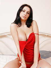 Eleni is a gorgeous Greek woman who is sporting an incredibly puffy   peach along with a pair of D cup tits that will almost take your   attention away from her amazing pussy. She is wearing skin tigh...