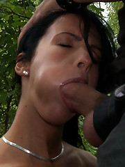 Euro babe gets more than she bargained for when she is tied up, helpless, and exposed on the streets