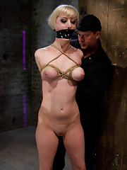 Hot Blond with PERFECT BODY, big natural tits, severely bound, gagged, and abused.  Made to cum over and over.  Totally spread, fucked and helpless.