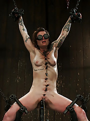 Strong, sexy Vivienne Del Rio spread wide, chained in the air, blindfolded and brutally mind-fucked.
