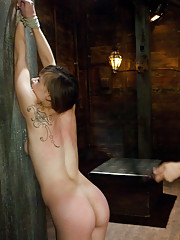 Hot 19 year old suspended upsidedown and fucked in bondage!