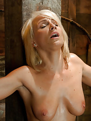 Porn Obstacle course for hot amateur - she rides pussy first down a zip line of vibrators, gets spanked on the Sybian and pounded creamy by robot cock