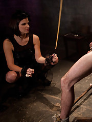 MIstress Bobbi Starr objectifies, humiliates, butt fucks and uses bitchboy then slaps him back into chastity forever.