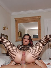 Check out hot fucking fish net body suit latina get naied hard in her hole in these hot screaming reality pics