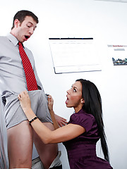 Rachel Starr really wants the new guy to join the company basketball team but he