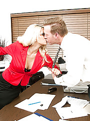 Jazy and Mark have been going at it all day in the conference room over the budget problems.  They just can