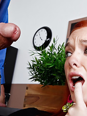 Dani is the ugly duckling who hides behind her glasses and her big clothes but her professor is going to break her out of her shell and into his pants.  It seems that Dani loves to suck and fuck underneath her nerdy exterior.  You can