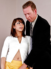 Lexi is a young hot intern that plans to go to her next internship.  However her boss has different plans in mind, if she plans to keep her job, she