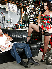 Billy Glide wishes that Jayden Jaymes was there after a long days of hard work.  You don