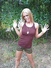 Great outdoor fun with dirty Foxy Jacky