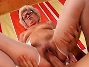 Gramma on top riding cock