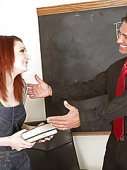 Professor Banderas has this funny tick of touching his cock constantly during his Spanish 101 class and this is completely distracting all the girls in his class. Marina is now asking for help from him because shes not doing well and blurts out the reason