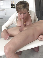British milf babe seduces toyboy