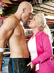 Angel and Ramon are working at the boxing club and talking about how much they would like to individually sample the hot young couple, Johnny and Madison.  Angel figures out how to separate the two of them from each other and give them time to work their