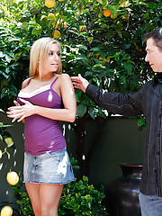 Relaxing on his day off John notices a stranger in his backyard. Confronting the young woman, Mariah explains that shes his next-door neighbor, and is only picking lemons from his lemon tree for some baking. After a little Q & A, and finding out Johns wif