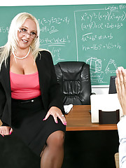 Professor Golden is surprised to see one of her problem students show up early for the last day of class. He thought shaving and showering was the way to impress his professor, but she isn