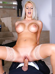 Big round tits fucking babe gets nailed hard in her tight mini skirt pussy in this piano teacher fuck student pics