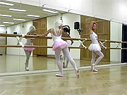 Two horny ballet girls enjoy sexual playing