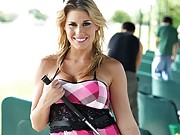 Golf is a delicate sport and Charisma seems to have the edge over learning it the hard way as she proves she can learn it fast. This is a day on a driving range and also a tell all interview of her life story, she ends it all by delivering a cum squeezer