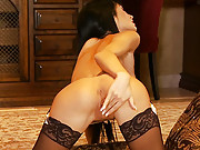 Roxanna fills her love hole with a big toy